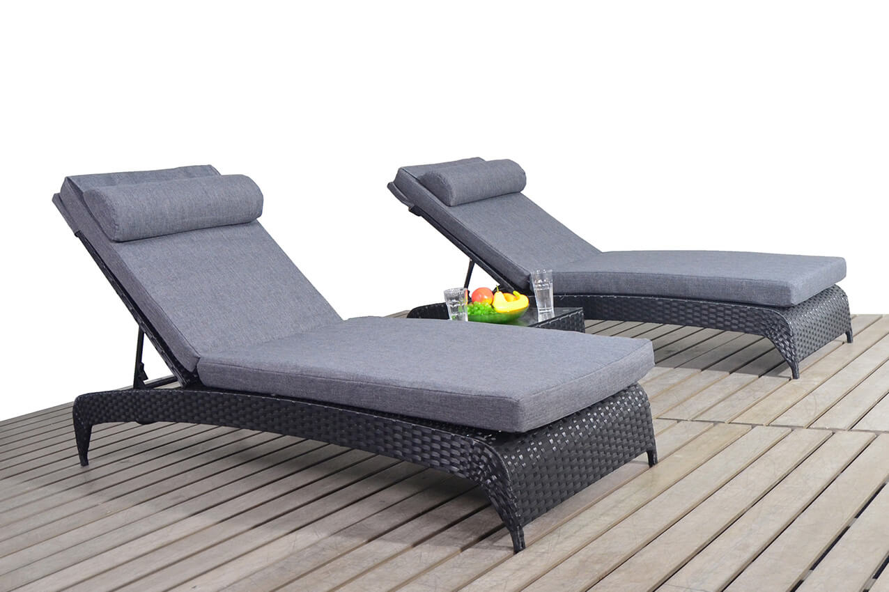 Prestige Pair loungers & Coffee table garden furniture suite
