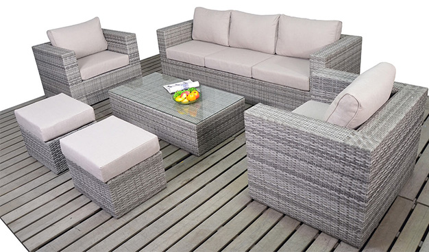Rustic Large sofa set garden furniture suite