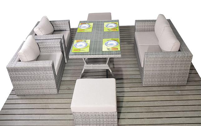 Rustic Table sofa garden furniture suite