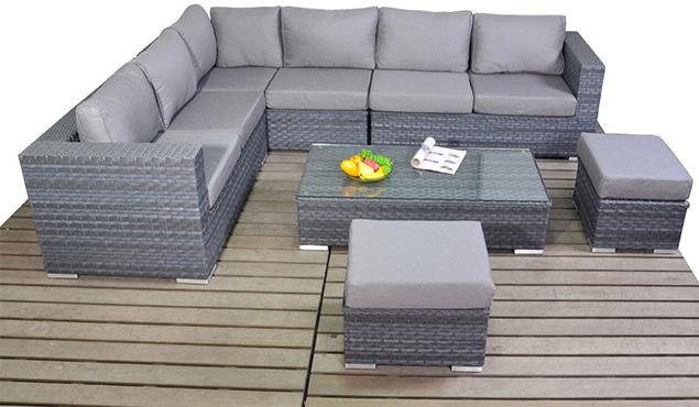Platinum Large corner left garden furniture suite