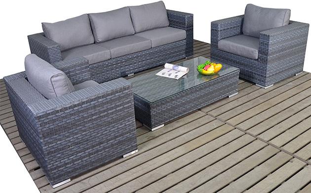 Platinum Large sofa set garden furniture suite