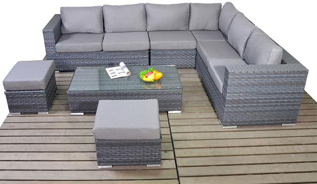 Platinum Large corner right garden furniture suite