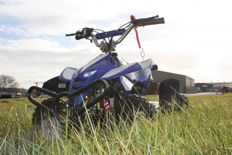 50cc Street Assassin Mini Off-Road Petrol Quad Bike in Blue