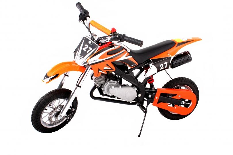 Hawkmoto Dirt Devil Pocket Rocket Scrambler 49cc in Orange