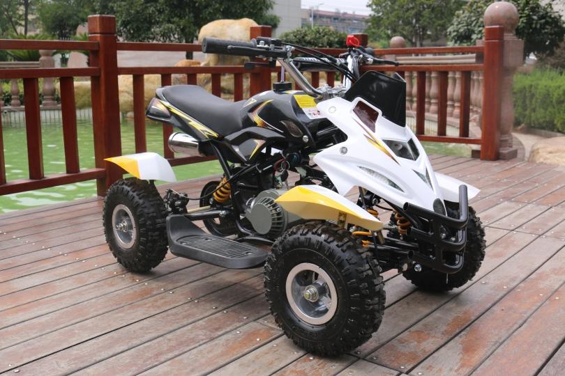 Hawkmoto 50cc Dirt Ninja Mini Off-Road Petrol Quad Bike in Yellow