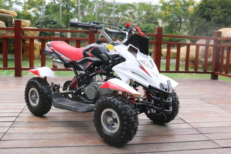 Hawkmoto 50cc Dirt Ninja Mini Off-Road Petrol Quad Bike in Red