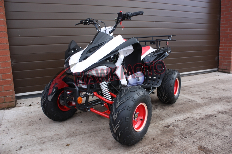 Hawkmoto Raider 150cc CVT Quad Bike in Red and White