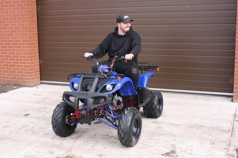 Hawkmoto Tomahawk 150cc CVT Quad Bike in Blue