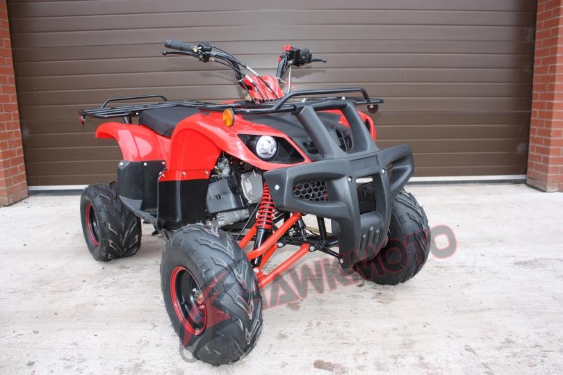 Hawkmoto Tomahawk 150cc CVT Quad Bike in Red