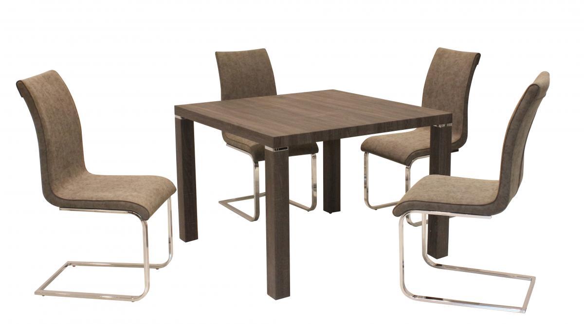 Finley PU Chairs Chrome & Brown