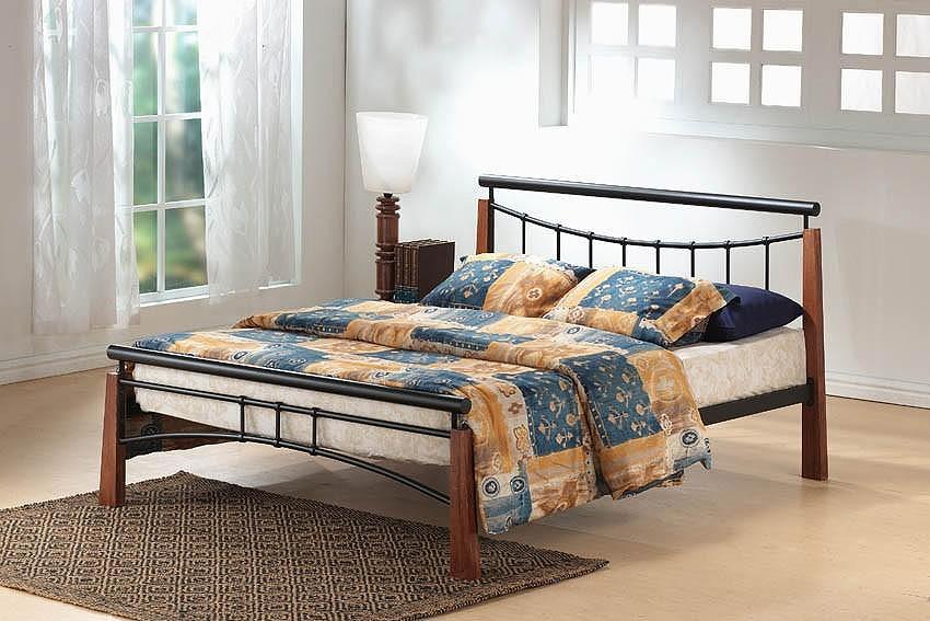 Franklin Bed King Size Black/Dark Oak