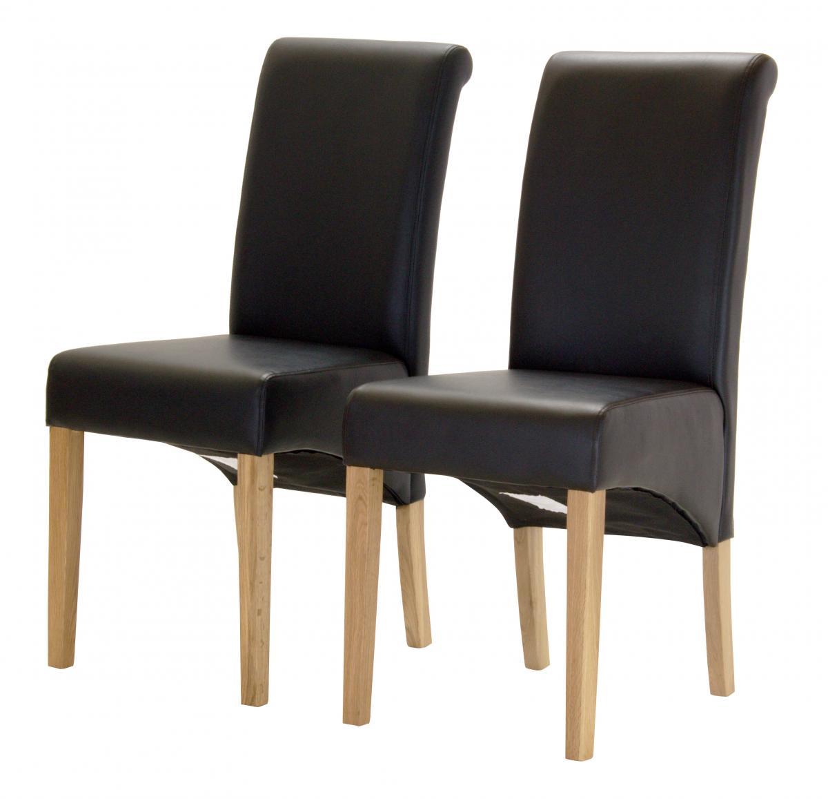 Havana PU Chair with Oak Legs