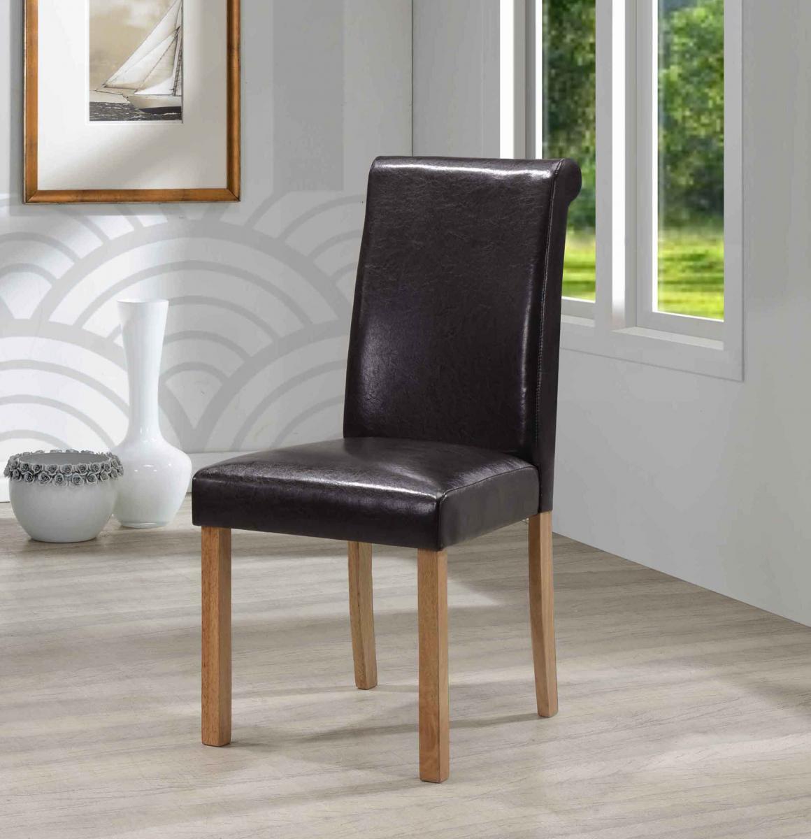 Jasper PU Solid Rubberwood Chair
