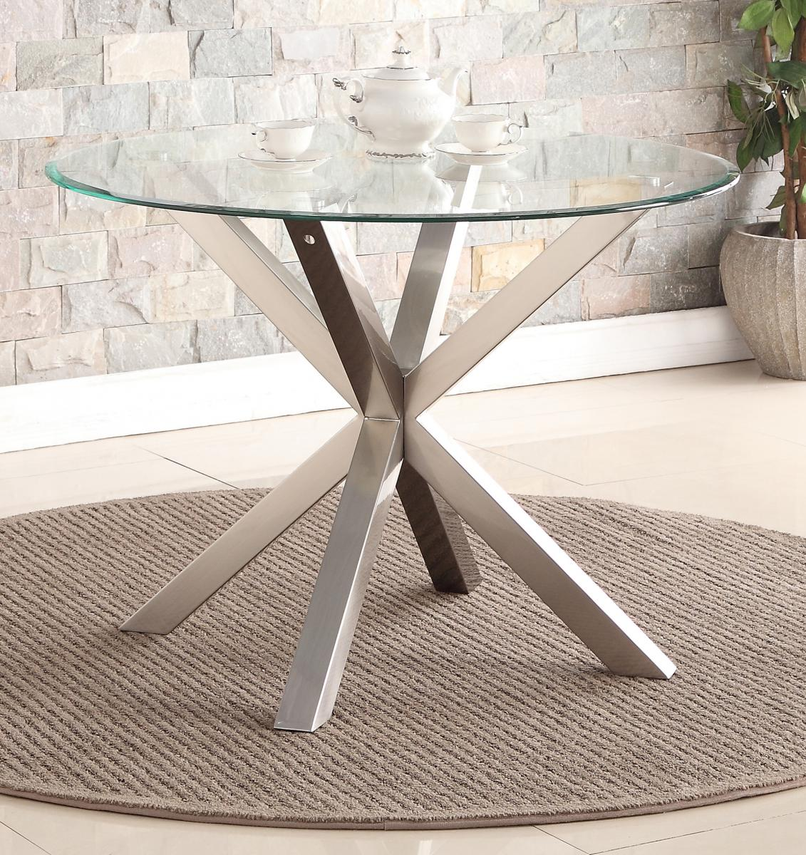 Nelson Dining Table with Brushed Stainless Steel