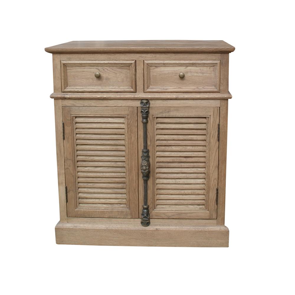 Merlanne Louvre Oak Side Cabinet