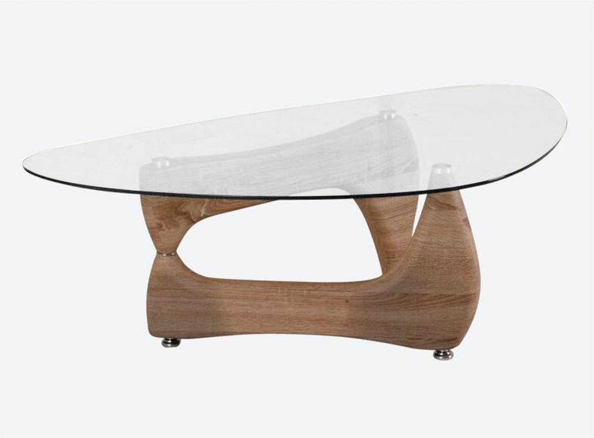 Paco Glass Coffee Table Natural