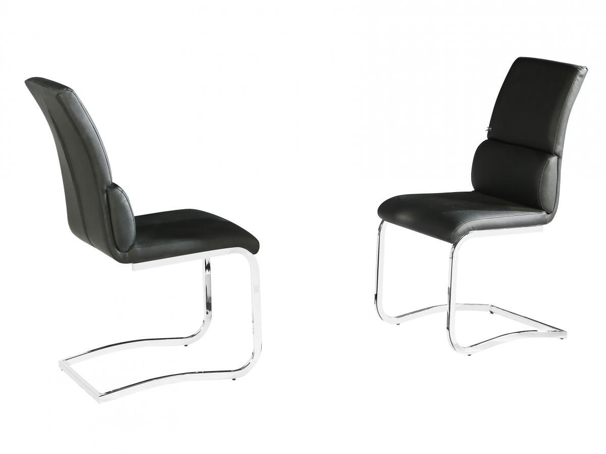 Phoenix PU Chairs Chrome & Black