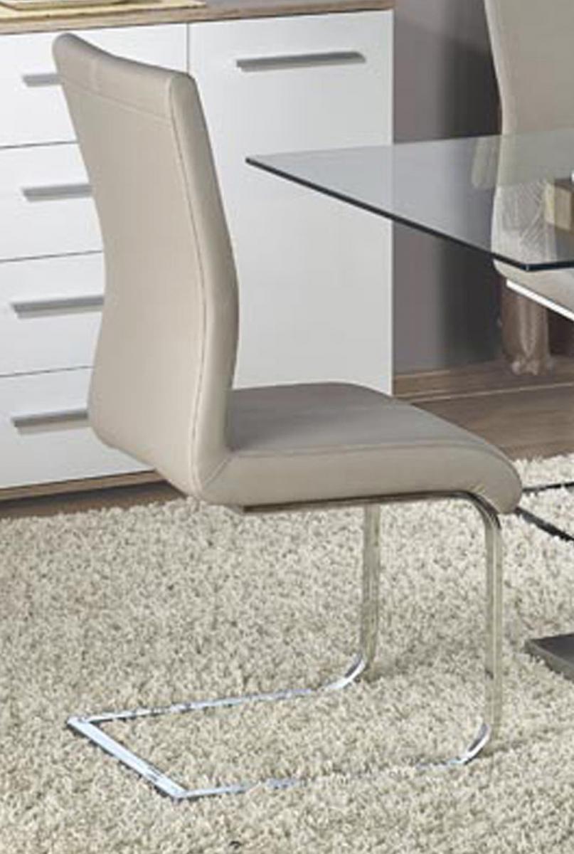 Simone PU Chairs Chrome & Grey (2s)
