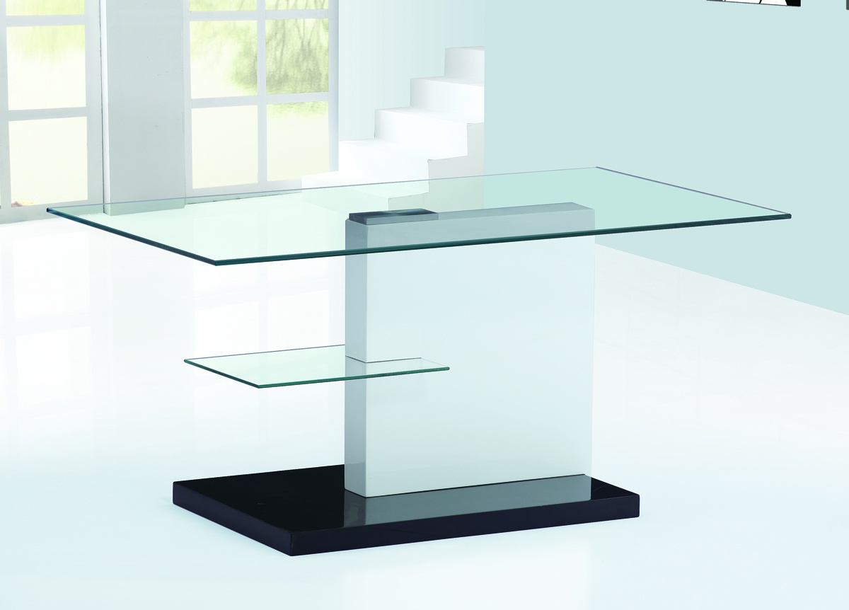 Spiers White High Gloss Coffee Table with Black HG Base