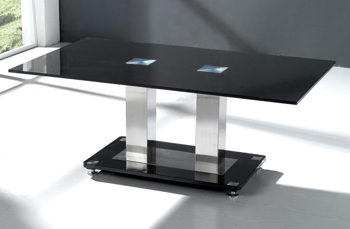 Trinity Coffee Table Chrome & Black