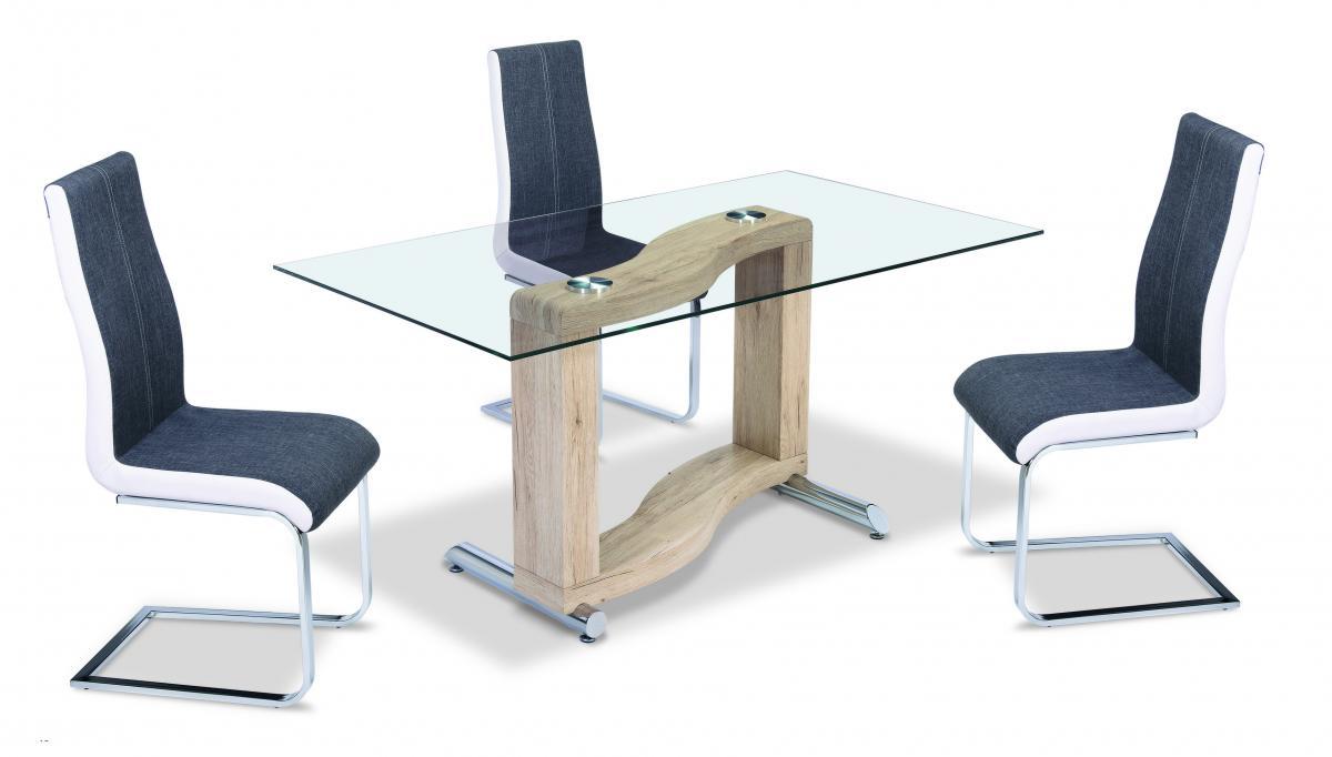 Zenon PU Chairs Chrome & Grey with White Sides