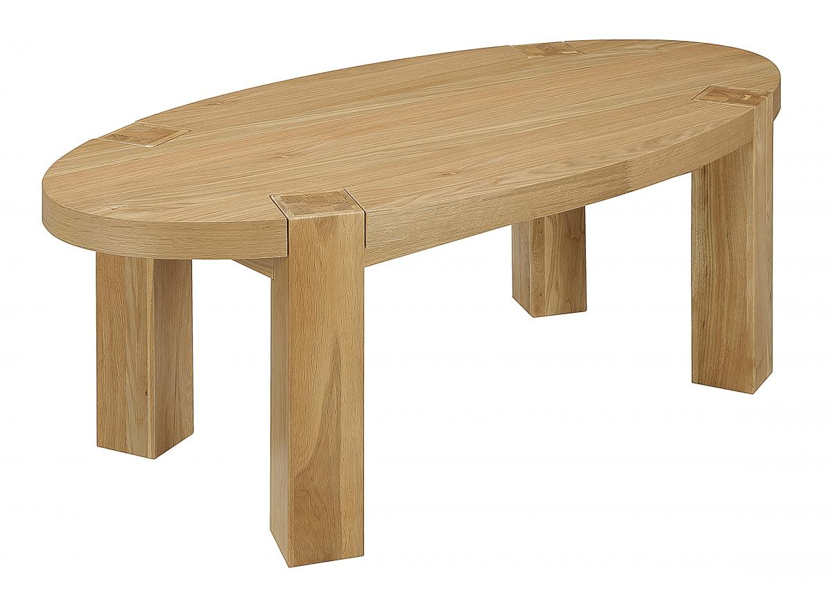 Zeus Oval Coffee Table Oak